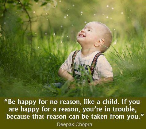 be happy like a child